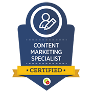 Yvette Sonneveld is een gecertificeerd content marketing specialist