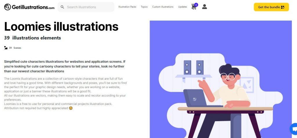 schermafbeelding van de homepage van Loomies
